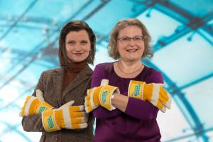 spitzenkandidatin Eva-Maria Finck-Hanebuth und Irene Mougoui, Listenplatz 2.